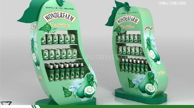 Chuyên sản xuất quầy kệ quảng cáo cho các nhãn hàng tại Lâm Đồng