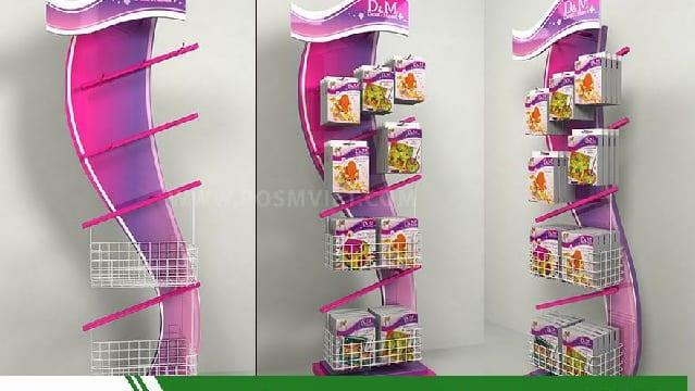 Chuyên sản xuất quầy kệ quảng cáo giá rẻ tại Lâm Đồng