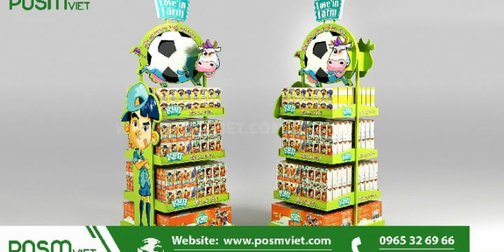 Dịch vụ chuyên sản xuất Posm, quầy kệ giá rẻ tại An Giang